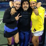 RT @BMATTEK: Special guest on court after the match today, the LEGEND Maradona!!! http://t.co/cXekcSkr