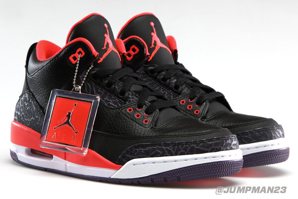 "The Air Jordan 3 Retro ""Bright Crimson"" hits the scene this Saturday. How are you feeling this new look? http://t.co/heXjdDLUhu"