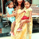 @LakshmiManchu :D with Ari and Vivi