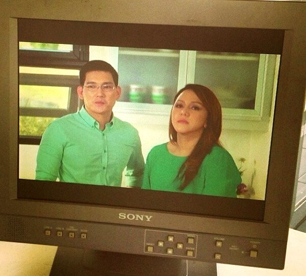 Richard & Melody Yap - BTS of the Anlene Commercial. Courtesy of bangpineda & hmlagazo. http://t.co/XgNw063OqT
