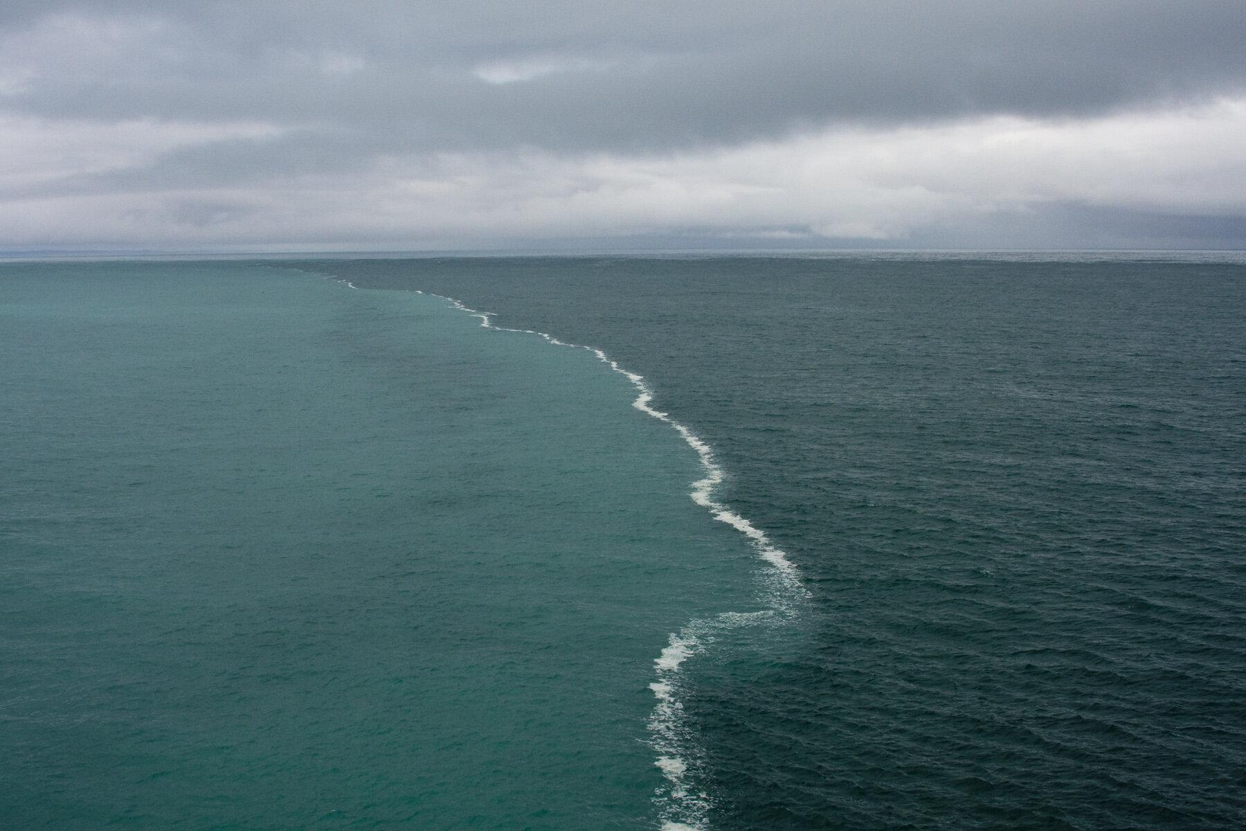 Golfo de Alaska. Dos mares se juntan, ¡pero no se mezclan! http://t.co/w6xOoE4C7R