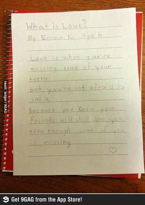 Wise Word from 6 Years Old http://t.co/C26MSRgjyJ