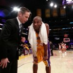RT @DuranSports: Exhausted @kobebryant after scoring 41 in 118-116 ot win w @LakersReporter