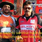 Are you ready for the semifinal match between Telugu Warriors and Veer Marathi teams today?....