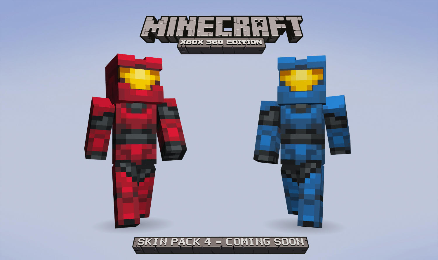 Red & Blue Spartans part of Skin Pack 4 for Minecraft: @Xbox 360 Edition (E10+). Out soon, watch @PlayXBLA for info. http://t.co/VM39oGNHlG