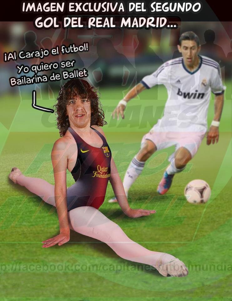 Photoshoppers get creative after Barcelonas Carles Puyol does the splits v Real Madrid
