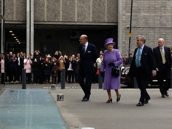 The Queen and Prince Philip have arrived!! http://t.co/kSrSfcrtgy