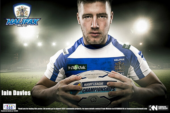 Here is the new poster of Iain Davies prop forward for HRLFC @Halifax_RLFC  to purchase contact @Frank17Tank http://t.co/1W5Tl0Vql6