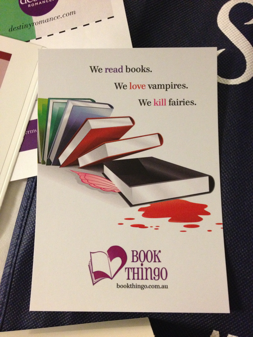 Book Thingo postcard - Photo by Kat Mayo (via Twitter)