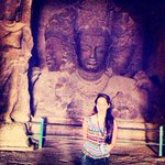 Inside #Elephanta #Caves Getting set for the concert.. My first time singing hindustani classical music! #blessings http://t.co/3GAoR4swFf