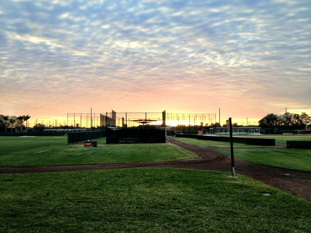 Another beautiful spring morning #Springtraining http://t.co/JobXYwgft5