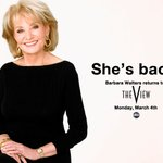 Welcome back! RT @theviewtv: Today @BarbaraJWalters returns! RT to welcome her back with us! #TheView