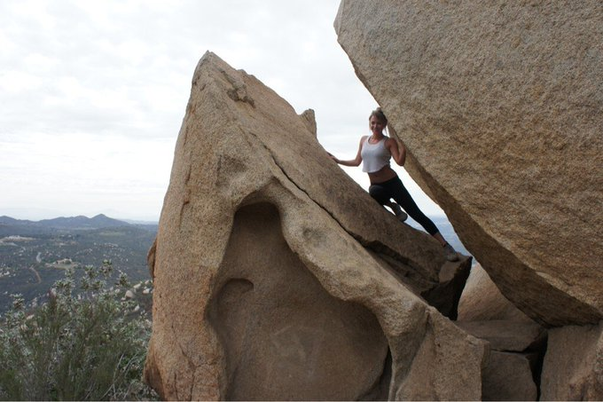 Hiking around San Diego. And occasionally seeing what small places I can fit into. http://t.co/OJQSi
