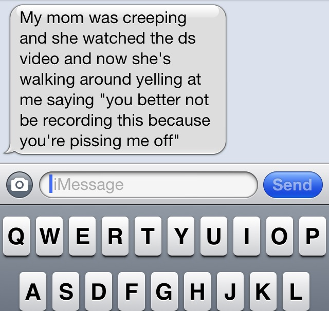 So I shared the prank video on FB and this is the text I just got! &lt;em&gt;@&lt;/em&gt;&lt;a class=&quot;linkify&quot; href=&quot;https://twitter.com/allitrippy&quot; rel=&quot;nofollow&quot; target=&quot;_blank&quot;&gt;allitrippy&lt;/a&gt; &lt;em&gt;@&lt;/em&gt;&lt;a class=&quot;linkify&quot; href=&quot;https://twitter.com/laurenspeed&quot; rel=&quot;nofollow&quot; target=&quot;_blank&quot;&gt;laurenspeed&lt;/a&gt; &lt;em&gt;@&lt;/em&gt;&lt;a class=&quot;linkify&quot; href=&quot;https://twitter.com/charlestrippy&quot; rel=&quot;nofollow&quot; target=&quot;_blank&quot;&gt;charlestrippy&lt;/a&gt; &lt;a class=&quot;linkify&quot; href=&quot;http://t.co/QHsd5PQE4E&quot; rel=&quot;nofollow&quot; target=&quot;_blank&quot;&gt;http://t.co/QHsd5PQE4E&lt;/a&gt;
