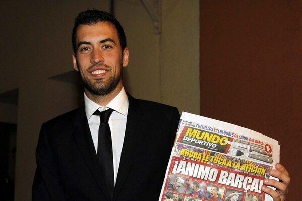 Busquets se suma a la campaña de Mundo Deportivo #ÁnimoBarça http://t.co/x1oQTdX1le