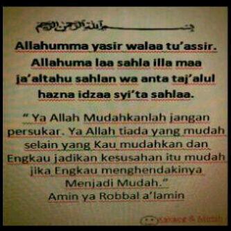 Allahumma Yasir Walaa Tu'assir.. Bismillah.. http://t.co/oq3y2ELmIk