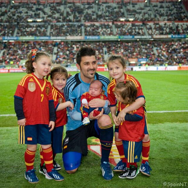 David Villa Daughter Villa With His Daughters