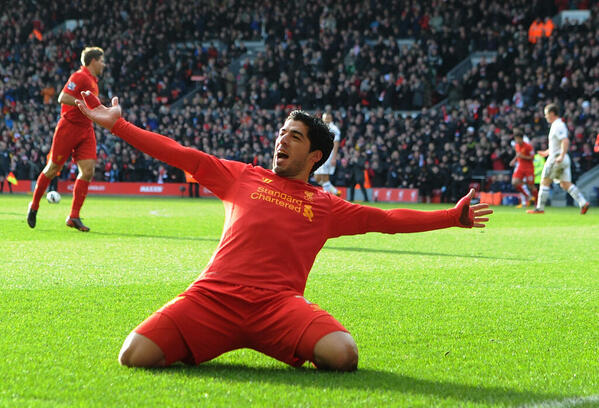 BFAsbuACQAAlMXe Video: All 50 Luis Suarez goals for Liverpool on 1 video