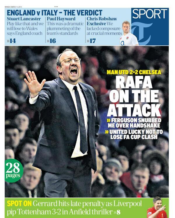 BFB0sKBCcAAZHjM Video: Rafa Benitez says Sir Alex Ferguson refused to shake his hand