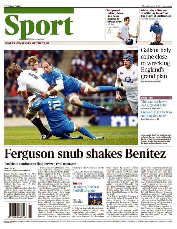 BFB4vg CQAA8AjV Video: Rafa Benitez says Sir Alex Ferguson refused to shake his hand
