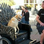 RT @msenese: Handsome pooch going for a ride on the Iron Throne. #wiredsxsw http://t.co/BZhGGyz8tf