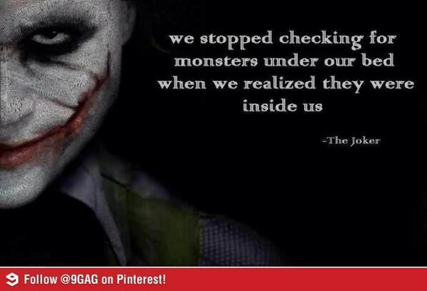 Joker's deep words... http://t.co/RtgrXzEbg1