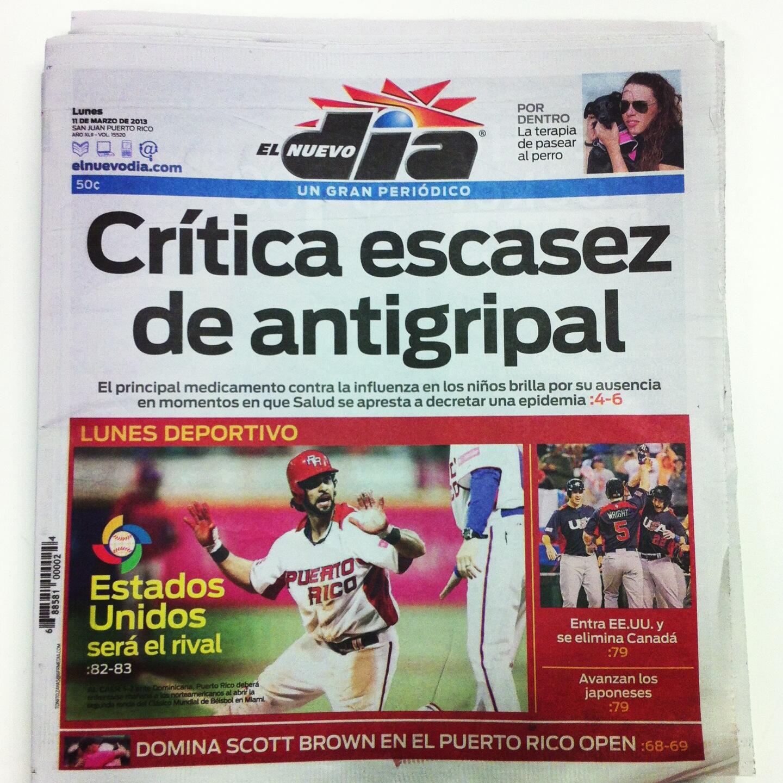 En portada: Crítica escasez de antigripal http://t.co/KPehZVHKMJ