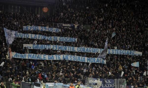 Picture: Lazio fined €10,000 for a Heysel banner aimed at Juventus Michel Platini