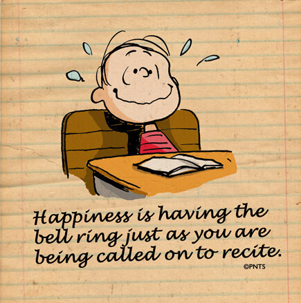 Happiness is having the bell ring just as you are being called on to recite! http://t.co/Q3jFWi7GFK
