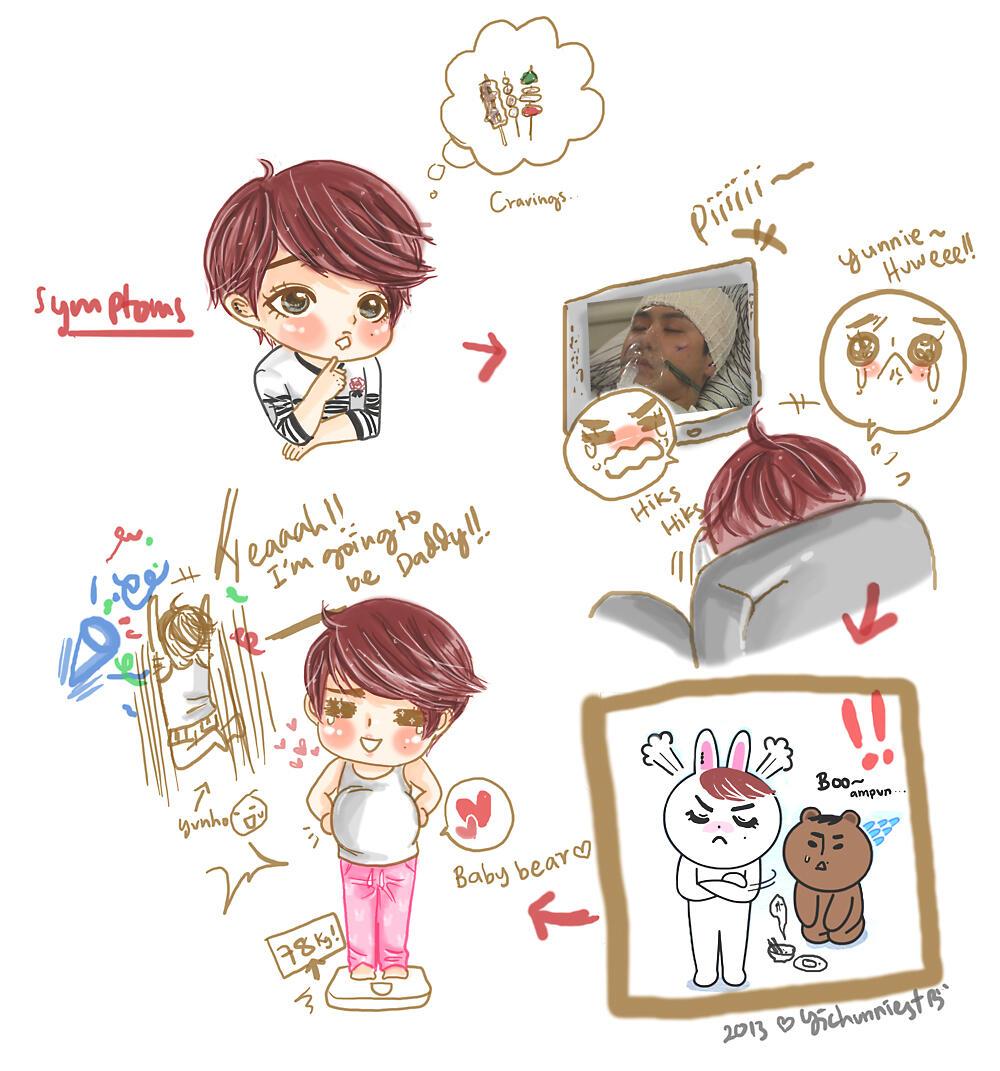 Yunjae Fanart Cute rt Tonnamyj Fanart Yunjae