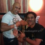 @ThisIsDSP and @OnlyBabaSehgal  at the recording of Singham-2 song - http://t.co/QpiwrQIOVj