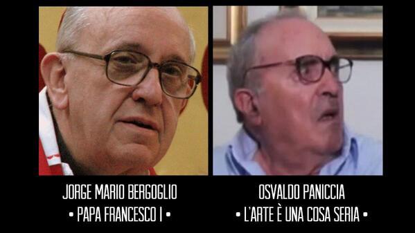 Andrea Diprè (@AndreaDipre): Il nuovo Papa è Paniccia reincarnato! http://t.co/uVvMMRkgwh