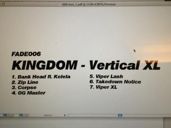 KINGDOM (@kkingdomm): Proud to announce my new EP 'Vertical XL' out in May on @FadetoMind !! http://t.co/k1f8gFeoIn