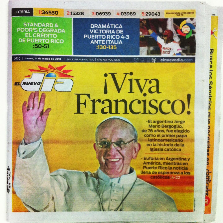 En portada: Euforia en Argentina por la elección del nuevo papa http://t.co/GxkJbtEpvG
