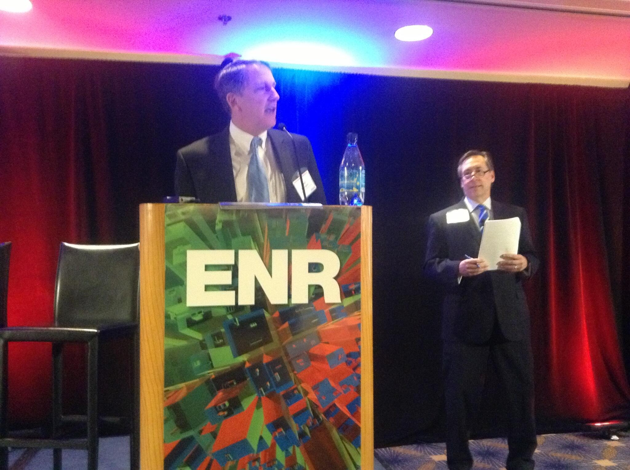 Stephen Jones and Paul Bonington of McGraw Hill kick-off #ENRTECH http://t.co/O5MfA9Sp3D