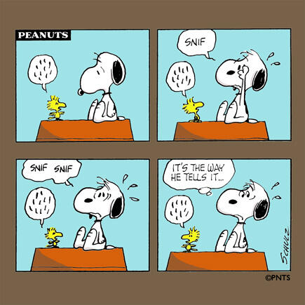 Story time with Snoopy and @Woodstock. http://t.co/7lcQYdcJan