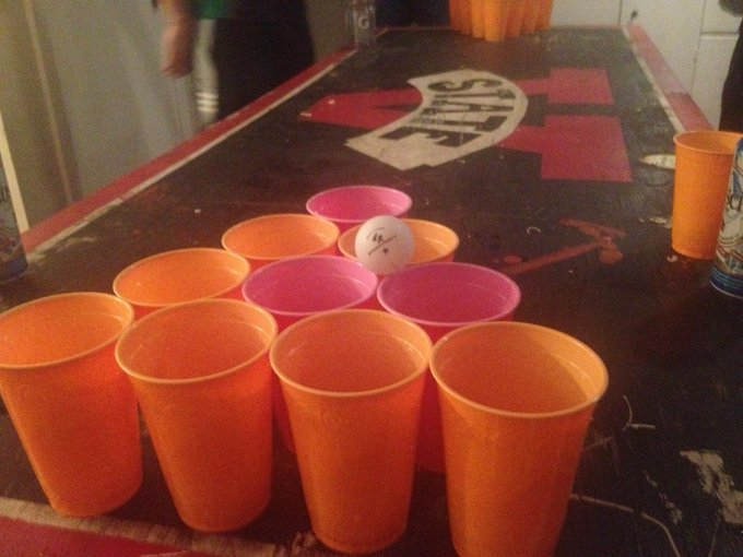 Beer pong now!A &lt;a class=&quot;linkify&quot; href=&quot;http://t.co/U2pxYIJHgR&quot; rel=&quot;nofollow&quot; target=&quot;_blank&quot;&gt;http://t.co/U2pxYIJHgR&lt;/a&gt;