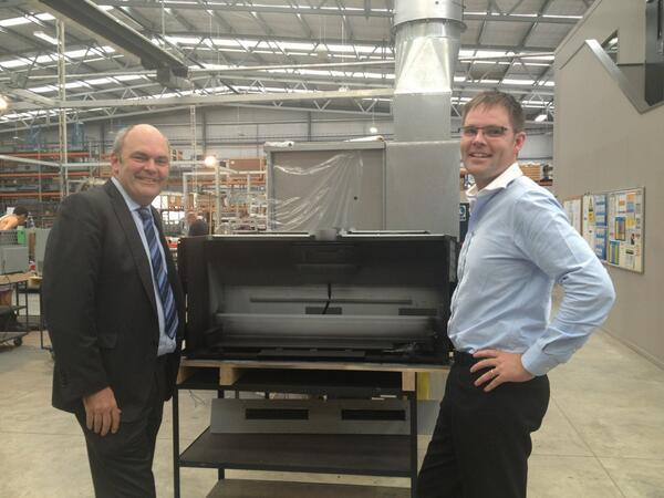 RT @stevenljoyce: Visited the team at @Escea Gas Fireplaces in Dunedin this afternoon. Gr8 Kiwi high value manufacturing export story http://t.co/9iii60i1hS