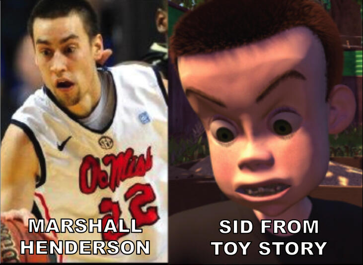 RT @TheFakeESPN: Lots of people noticing the 'Marshall Henderson/Sid from Toy Story' resemblance: http://t.co/BUtbnPlxWf