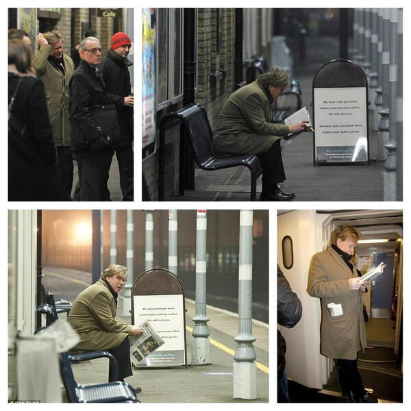 RT @soziraq: وزير المواصلات البريطاني ينتظر قطار السادسة صباحاً وحيداًوسط طقس شديدالبرودة ليذهب إلى عمله وعند ركوبه لم يجد كرسي -- http://t.co/lwx5Z8NfcT