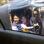 Kids playing with their reflection in mumbai. Lol. So cute