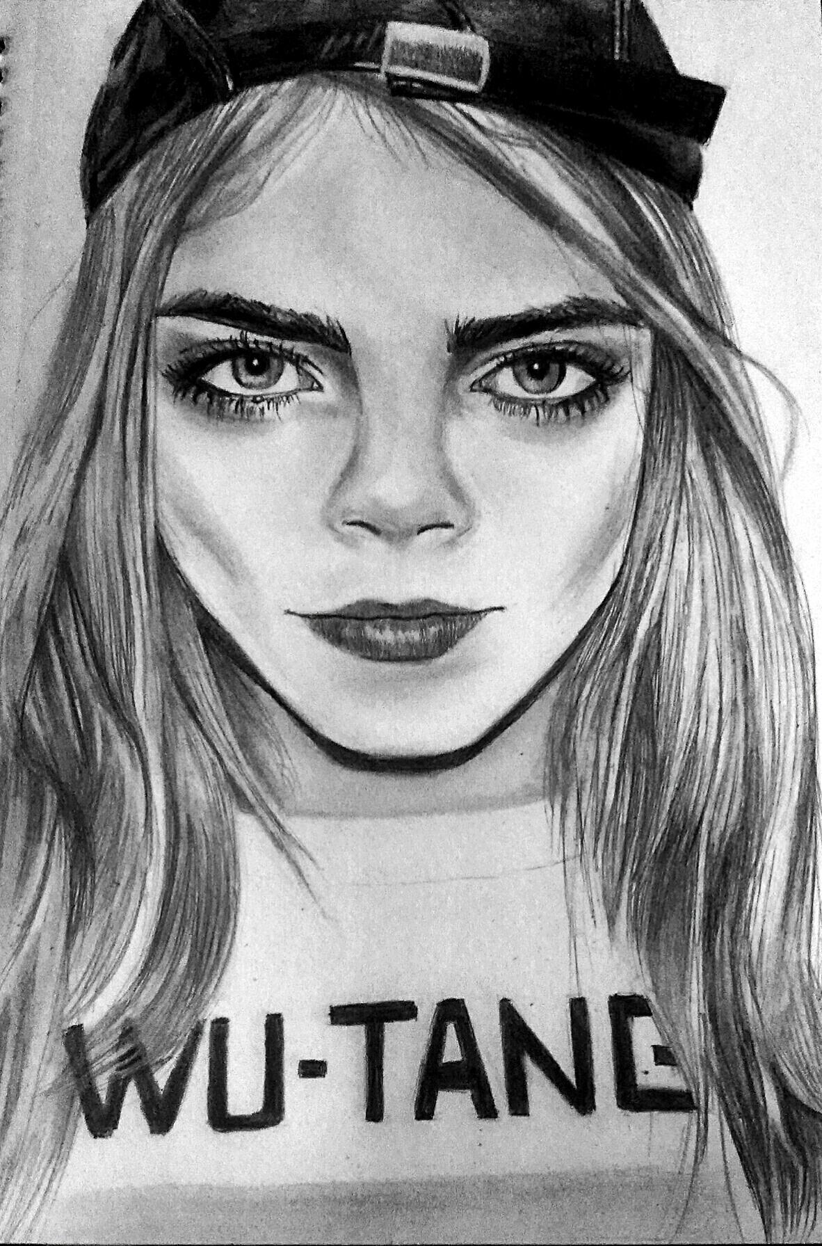 How Draw Cara Delevingne Page Quotes
