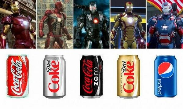 RT @G_Leynore @Jon_Favreau inspired by Coca Cola and Pepsi? http://t.co/xa5ZJUn1C7 [Good work! Final transformation to Red Bull?]