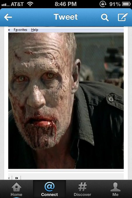 Alright 50 RT&#x27;s is enough. Here is a pick of Merle as a walker courtesy of &lt;em&gt;@&lt;/em&gt;&lt;a class=&quot;linkify&quot; href=&quot;https://twitter.com/vegasjamie&quot; rel=&quot;nofollow&quot; target=&quot;_blank&quot;&gt;vegasjamie&lt;/a&gt; Real or Fake? &lt;a class=&quot;linkify&quot; href=&quot;https://twitter.com/#!/search?q=%23TheWalkingDead&quot; rel=&quot;nofollow&quot; target=&quot;_blank&quot; title=&quot;#TheWalkingDead&quot;&gt;&lt;em&gt;#&lt;/em&gt;TheWalkingDead&lt;/a&gt; &lt;a class=&quot;linkify&quot; href=&quot;http://t.co/93yNevSpNq&quot; rel=&quot;nofollow&quot; target=&quot;_blank&quot;&gt;http://t.co/93yNevSpNq&lt;/a&gt;
