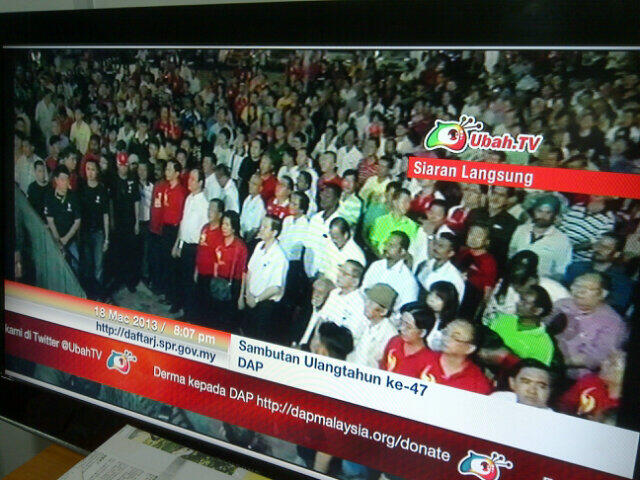 One-minute's silence 4 our fallen heroes b4 start of DAP's 47th anni celebrations, Skudai, Johor! Watch Ubah.tv! http://t.co/6X9KNVKezi