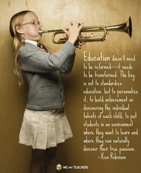 """@SirKenRobinson: RT @JoyceDiDonato ""Transforming education … in a nutshell"" http://t.co/X8lofWRpbk Thank you, Joyce! Love the poster."""