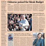 Here's a sneak peek at the front page of the UK Financial Times -  Wednesday, March 20