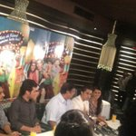 N dis is a shot from yesterday's press conference in delhi. #ChashmeBaddoor all d way. 1 last day 2 go.