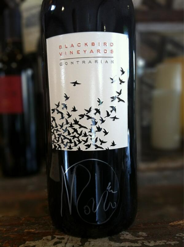 "RT @Blackbird_Wines @AaronPott ""black currant jumps out of the glass"" Wish it'd landed on a ribeye! Tasted @Maisonry http://t.co/17gPWtHtF2"