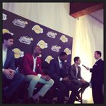 RT @geeter3: The big 4 with @LAireland for some Q and A #lakers